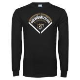 Black Long Sleeve T Shirt-Golden Grizzlies Baseball Diamond