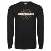 Black Long Sleeve T Shirt-Golden Grizzlies Basketball Lines