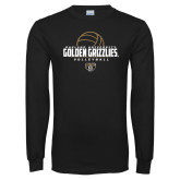 Black Long Sleeve T Shirt-Golden Grizzlies Volleyball Half Ball