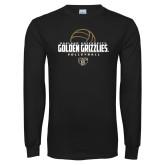 Black Long Sleeve T Shirt-Golden Grizzlies Volleyball Half Ball