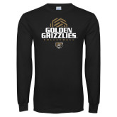 Black Long Sleeve T Shirt-Golden Grizzlies Volleyball Stacked