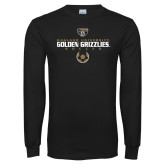 Black Long Sleeve T Shirt-Golden Grizzlies Soccer Icon