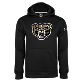 Under Armour Black Performance Sweats Team Hoodie-Grizzly Head