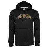 Under Armour Black Performance Sweats Team Hoodie-Arched Golden Grizzlies