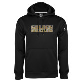 Under Armour Black Performance Sweats Team Hoodie-Golden Grizzlies Stacked