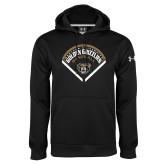Under Armour Black Performance Sweats Team Hoodie-Golden Grizzlies Baseball Diamond