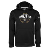 Under Armour Black Performance Sweats Team Hoodie-Golden Grizzlies Basketball Arched