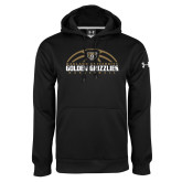 Under Armour Black Performance Sweats Team Hoodie-Golden Grizzlies Basketball Half Ball