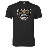 Next Level Vintage Black Tri Blend Crew-Grizzly Head