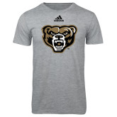 Adidas Sport Grey Logo T Shirt-Grizzly Head