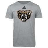 Adidas Sport Grey Logo T Shirt-Grizzly Head