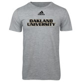 Adidas Sport Grey Logo T Shirt-Oakland University