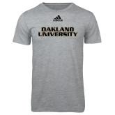 Adidas Sport Grey Logo T Shirt-Oakland University