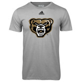 Adidas Climalite Sport Grey Ultimate Performance Tee-Grizzly Head