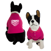 Classic Fuchsia Dog Polo-Grizzly Head