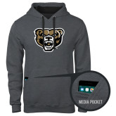 Contemporary Sofspun Charcoal Heather Hoodie-Grizzly Head
