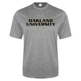 Performance Grey Heather Contender Tee-Oakland University