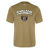 Performance Vegas Gold Tee-Oakland University with Grizzly Head
