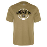 Performance Vegas Gold Tee-Golden Grizzlies Basketball Arched