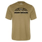 Performance Vegas Gold Tee-Golden Grizzlies Basketball Half Ball