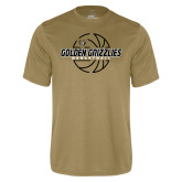Performance Vegas Gold Tee-Golden Grizzlies Basketball Lines