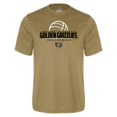 Performance Vegas Gold Tee-Golden Grizzlies Volleyball Half Ball