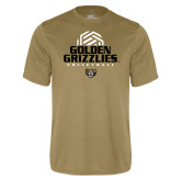 Performance Vegas Gold Tee-Golden Grizzlies Volleyball Stacked