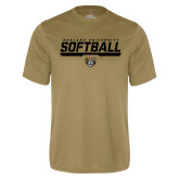 Performance Vegas Gold Tee-Softball Stencil