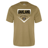 Performance Vegas Gold Tee-Oakland University Softball Plate