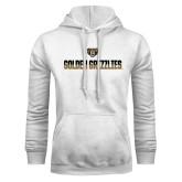 White Fleece Hoodie-Golden Grizzlies Two Tone