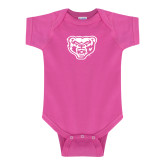 Fuchsia Infant Onesie-Grizzly Head
