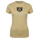 Ladies Syntrel Performance Vegas Gold Tee-Softball