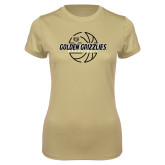 Ladies Syntrel Performance Vegas Gold Tee-Golden Grizzlies Basketball Lines