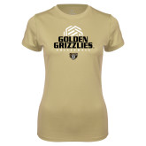 Ladies Syntrel Performance Vegas Gold Tee-Golden Grizzlies Volleyball Stacked