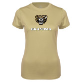 Ladies Syntrel Performance Vegas Gold Tee-Grandma