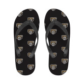 Ladies Full Color Flip Flops-Grizzly Head
