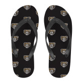 Full Color Flip Flops-Grizzly Head