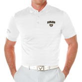 Callaway Opti Vent White Polo-Oakland University with Grizzly Head