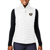 Columbia Lake 22 Ladies White Vest-Grizzly Head