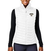 Columbia Lake 22 Ladies White Vest-Oakland University with Grizzly Head