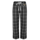 Black/Grey Flannel Pajama Pant-Grizzly Head
