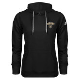 Adidas Climawarm Black Team Issue Hoodie-Oakland University with Grizzly Head