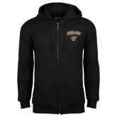Black Fleece Full Zip Hoodie-Oakland University with Grizzly Head