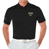 Callaway Opti Vent Black Polo-Oakland University with Grizzly Head