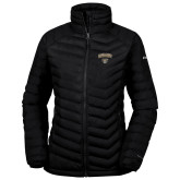 Columbia Powder Lite Ladies Black Jacket-Oakland University with Grizzly Head