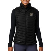 Columbia Lake 22 Ladies Black Vest-Grizzly Head