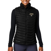 Columbia Lake 22 Ladies Black Vest-Oakland University with Grizzly Head
