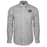 Red House Grey Plaid Long Sleeve Shirt-Grizzly Head