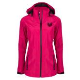 Ladies Dark Fuchsia Waterproof Jacket-Grizzly Head