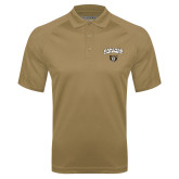 Vegas Gold Textured Saddle Shoulder Polo-Oakland University with Grizzly Head